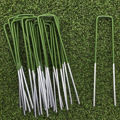 half-green-artificial-grass-turf-u-pins-metal